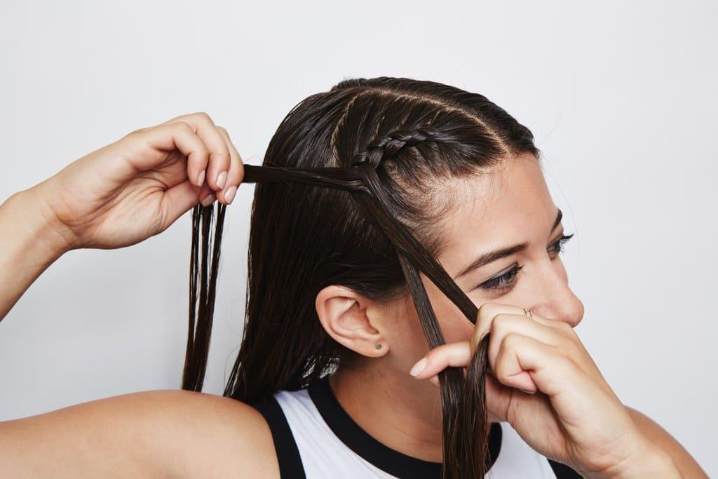 Double Dutch braid hairstyle