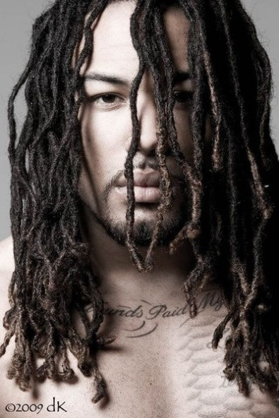 Long Individual Braid hairstyles for Men
