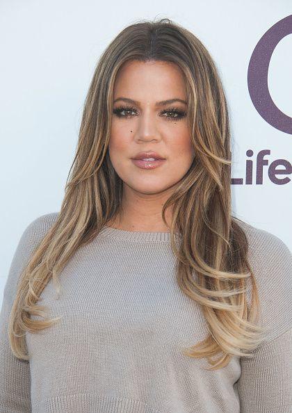 Khloé Kardashian Hair Natural Highlights