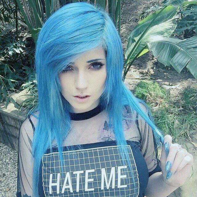 light blue hair color idea