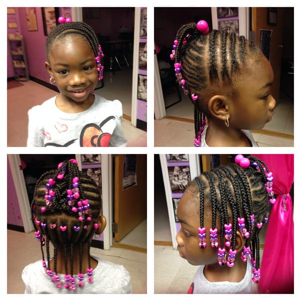 10 Elegant Little Girl Braids With Beads Hairstylecamp