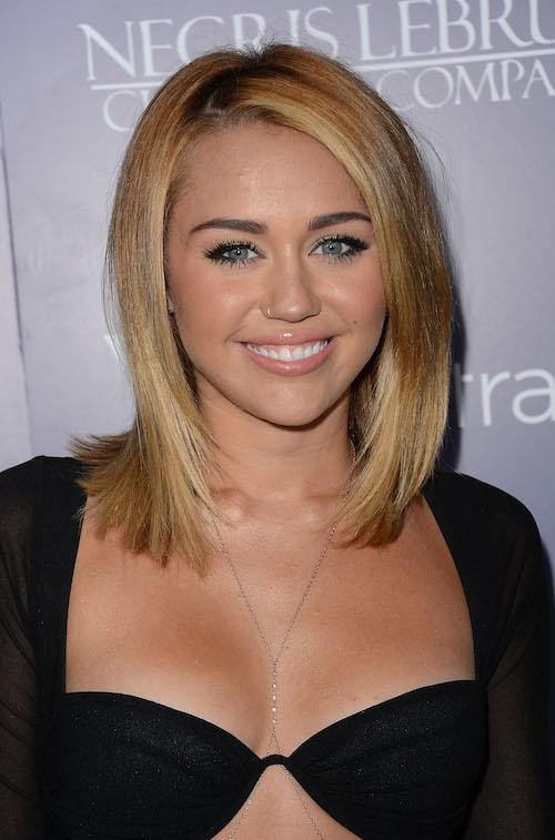 Long Bob Haircut By Miley Cyrus