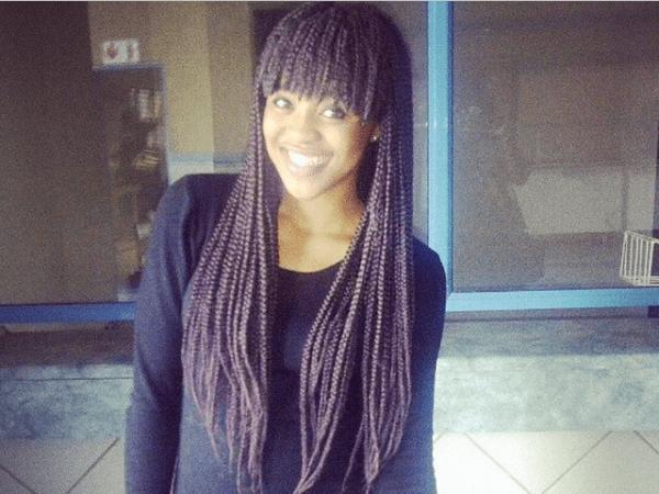 black girl Long Box Braid Hairstyles