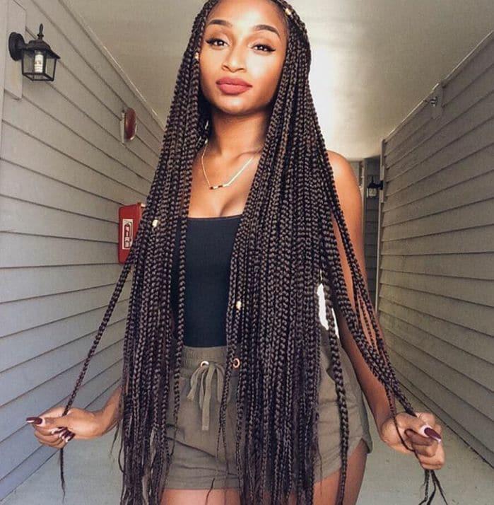 Long Box Braid Hairstyles you love