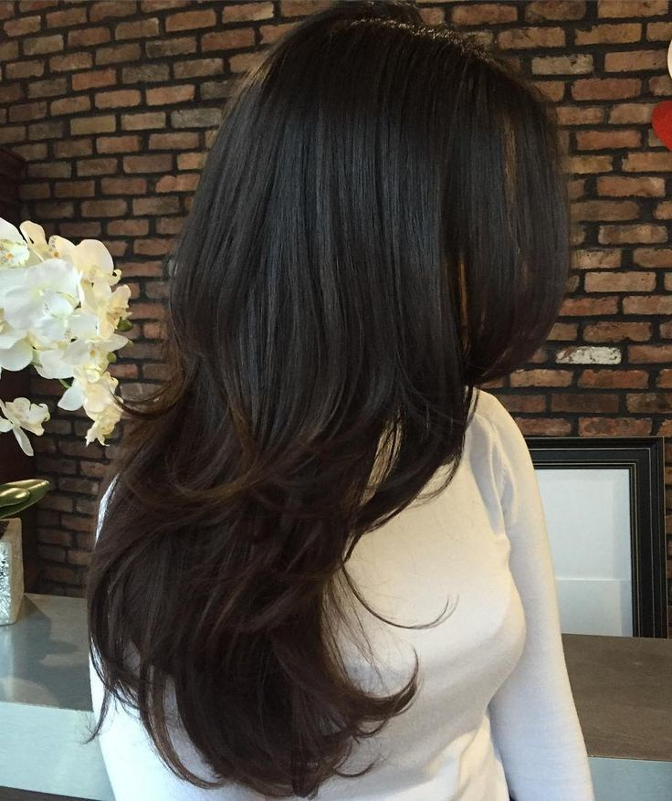Long Layered Hair and cool hair color