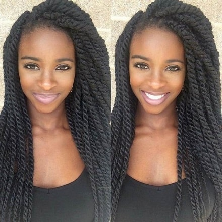 black girl favorite Long Rope Twists cut
