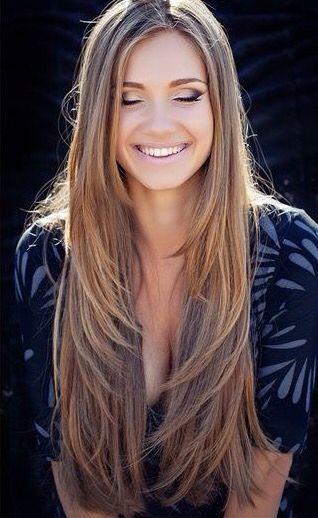 beautiful Layered Long Straight Hair