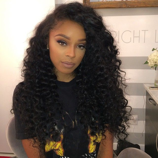 Pretty waves Malaysian Kinky Curly Hairstyle
