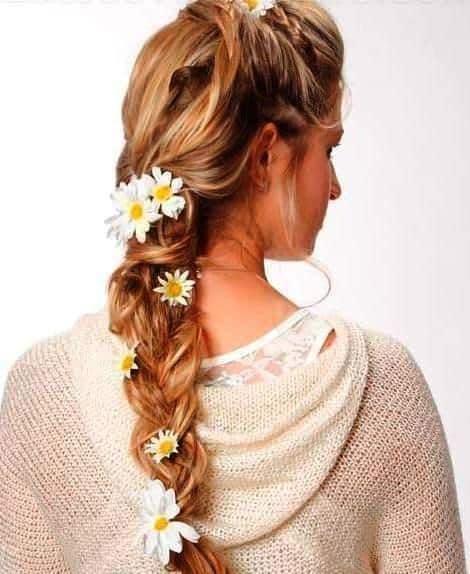Braid Crown hairstyle for bride's mother.