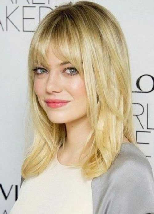50 Trendy Medium Length Hair With Bangs For Women 2019