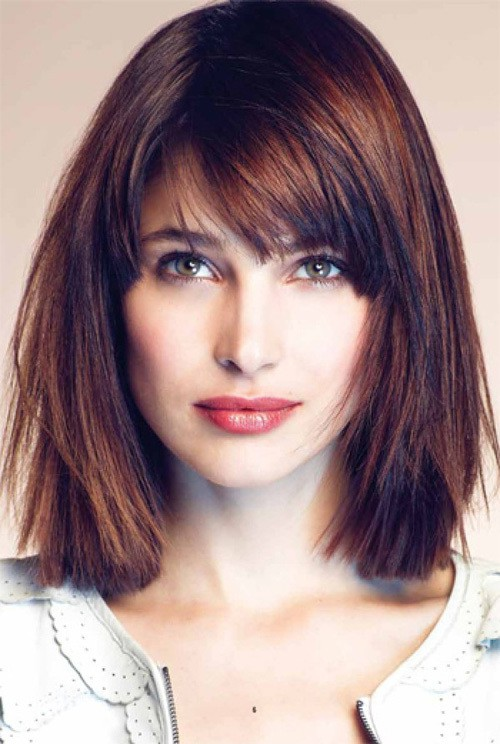 Highlighted Medium Hair With Bangs