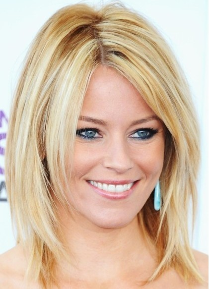 Long Golden Bangs Medium Length Blonde Hairstyles 7