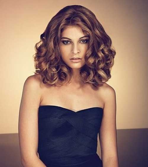 Low curls Medium Hairstyle for girl