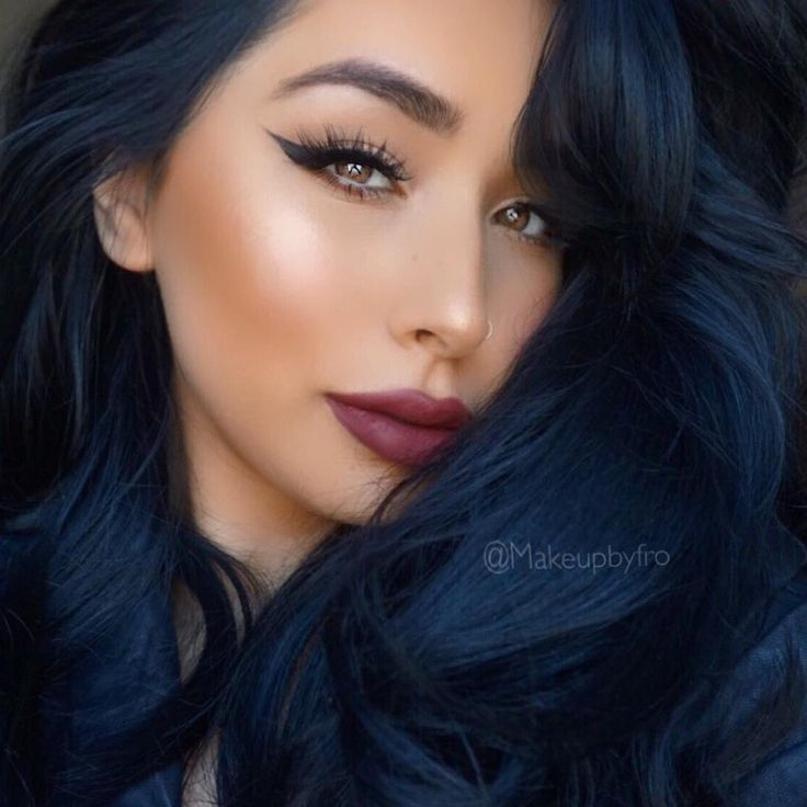 Dark Midnight Blue Hair | 5 midnight blue hair color ideas for a unique look