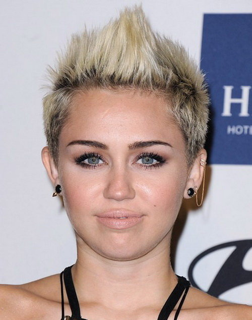 Miley Cyrus Faux Hawk haircut