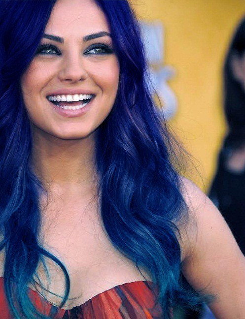 Navy ombre Hair Color you love