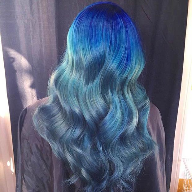 nice Navy Blue Hair Color idea for girl