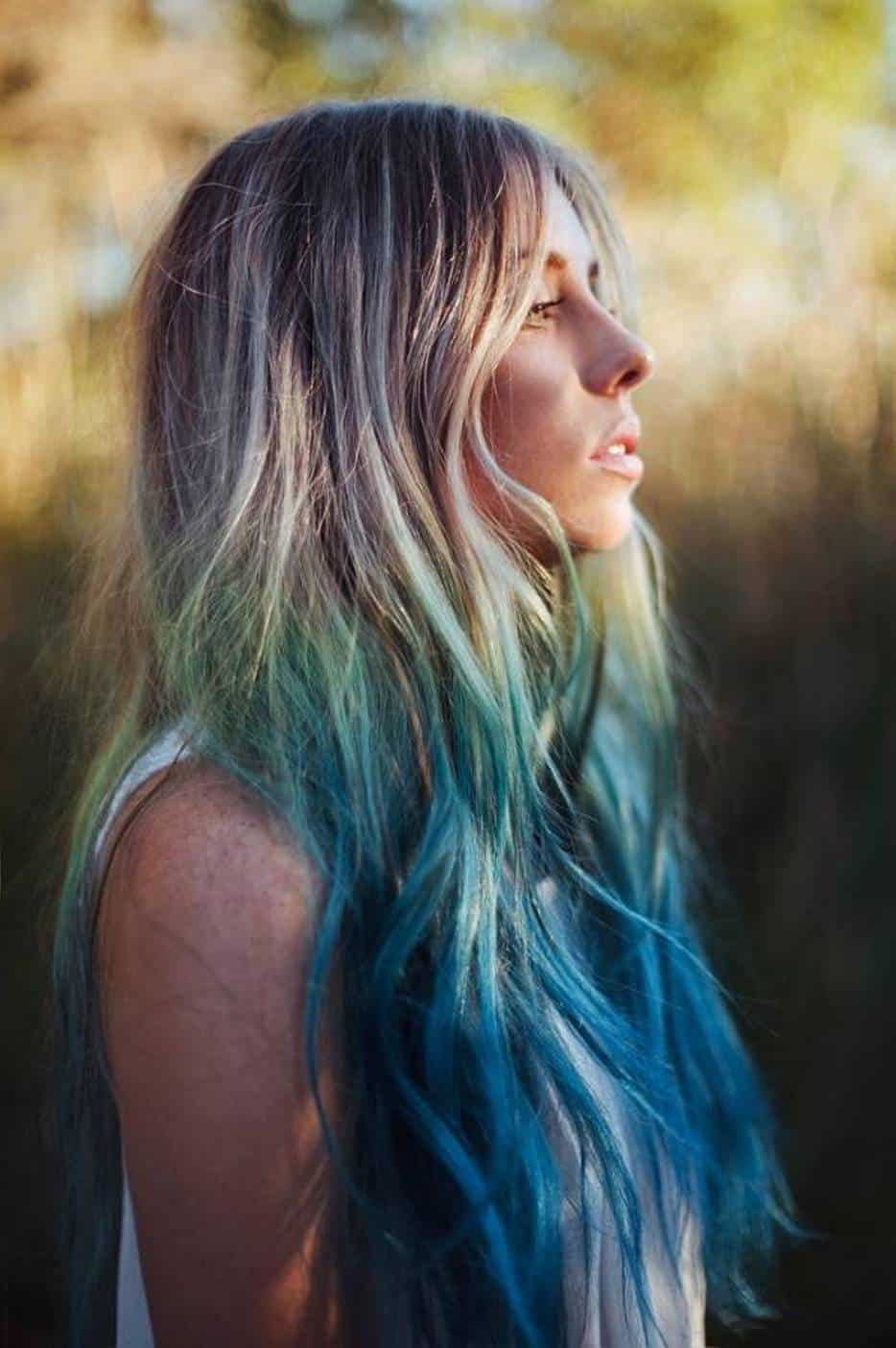 10 Groundbreaking Black And Blue Ombre Hair