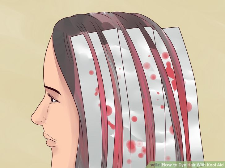 Kool Aid Hair Hairstyle Coloring Long Flower