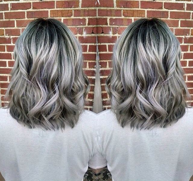 Grey Hair Colors with girls prettiest look