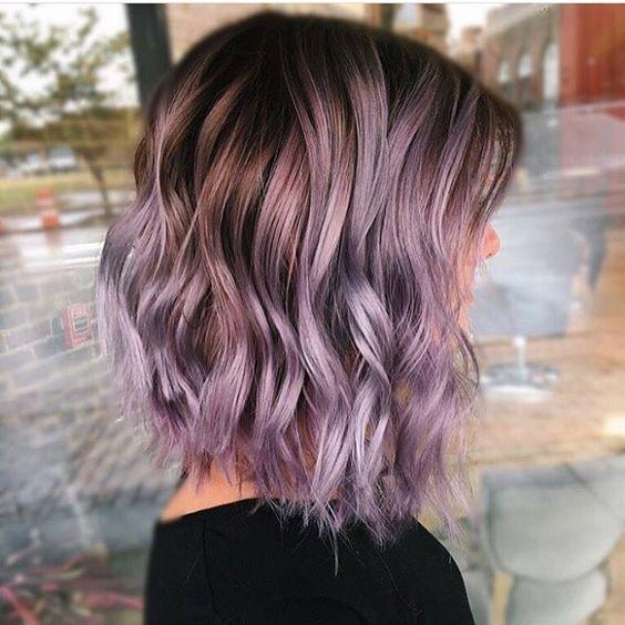 girl Purple Balayage hairstyle