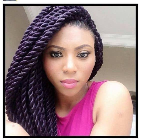 Purple Ombre with long twists