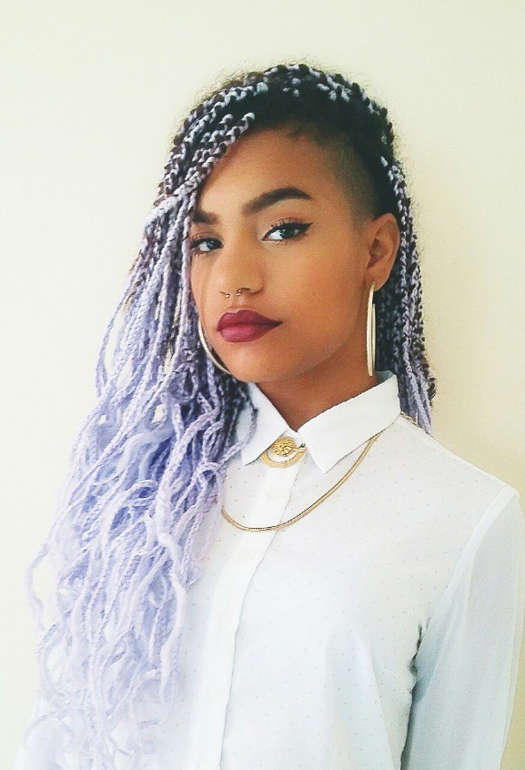 20 Aristocratic Purple Amp Grey Box Braid Styles Hairstylecamp