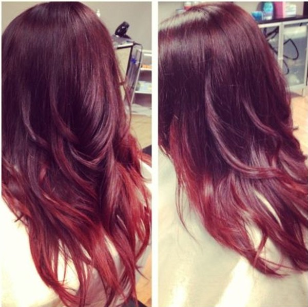Dark redpurple hair color ideas
