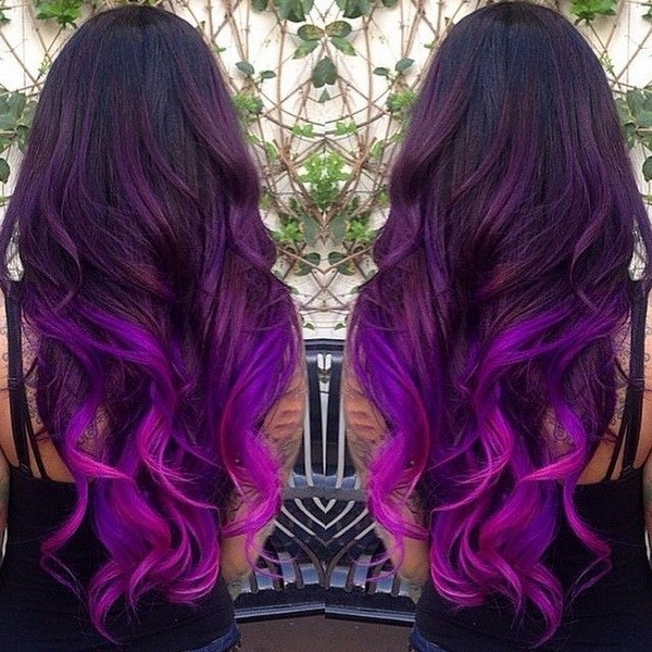 Red Blue And Purple Ombre Hair Color Ideas