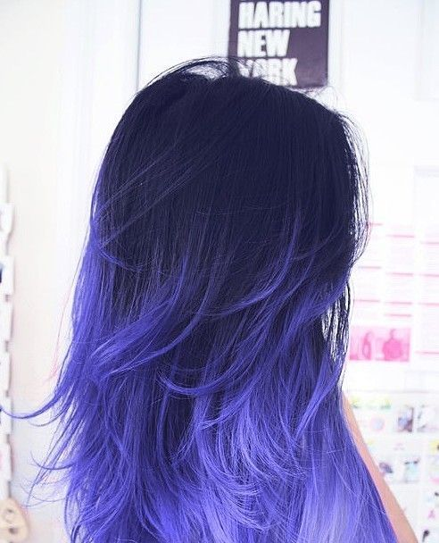 25 Red Blue And Purple Ombre Hair Colors To Shine