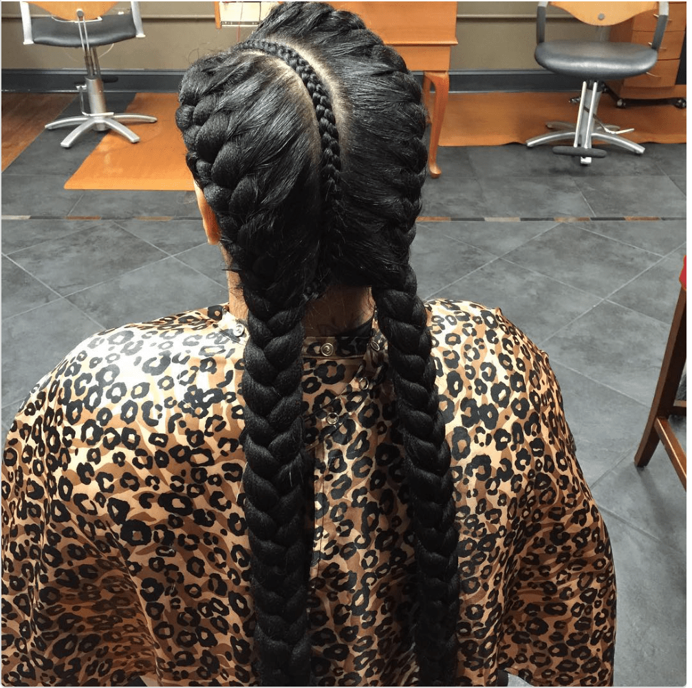 5 Unique Two Big Braids With Weave Hairstylecamp