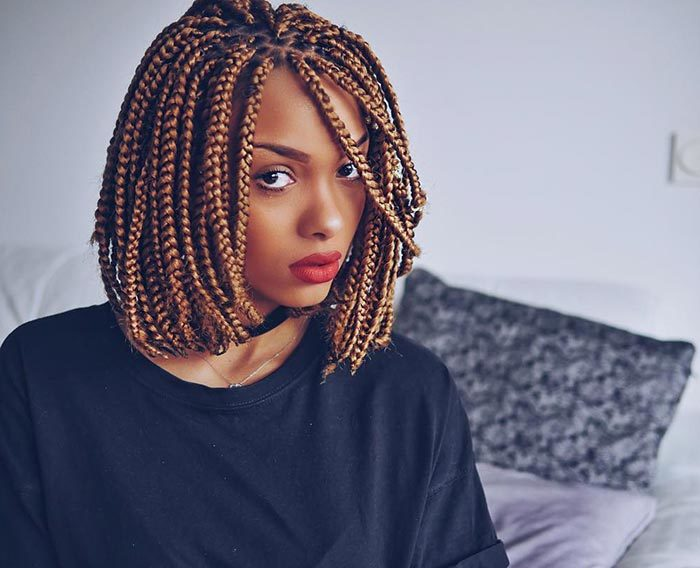 19 Lively Short Box Braid Styles For Any Woman Hairstylecamp