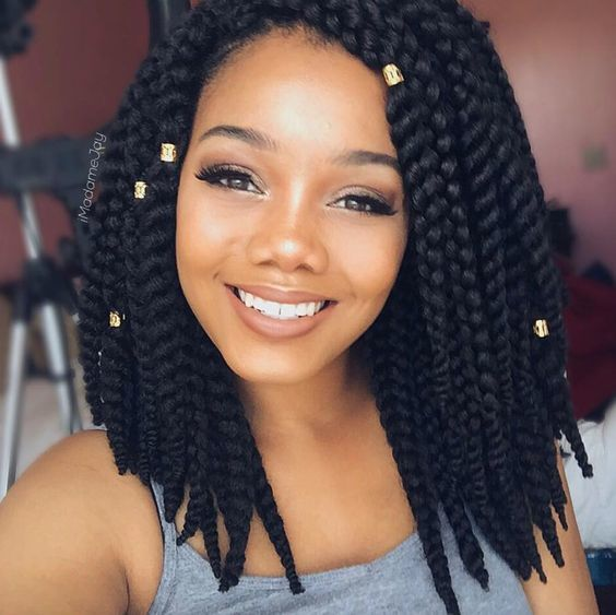 Short Chunky Twists marley hair