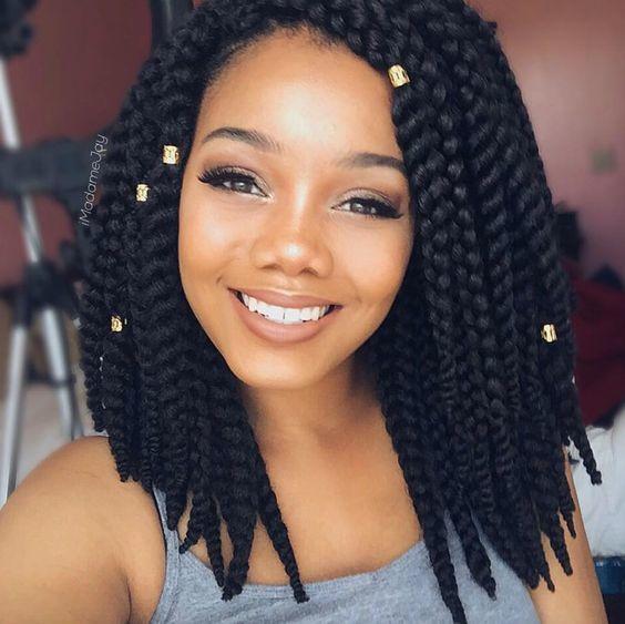 Short Chunky Twists Marley Hair