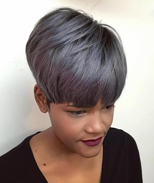 10 short simple sew in hairstyles youll love hairstylecamp girl gray color short sew in hairstyle urmus Images