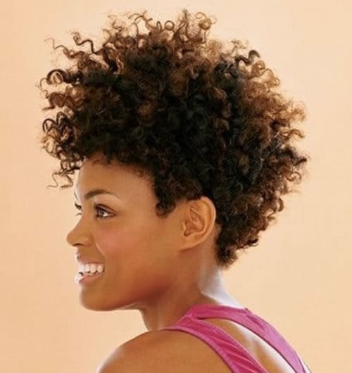 Sew In Hairstyles middle part sew in hairstyles Curly Short Sew In Hairstyle