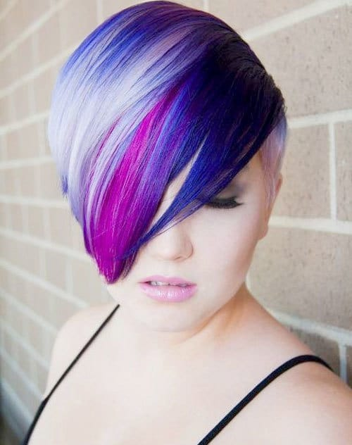 Indigo Ink Blue Pale Ice Deep Purple A Lot Of The Multicolored Hair Trending Right Now Follows Monochromatic Or Ombre Scheme That Involves Several