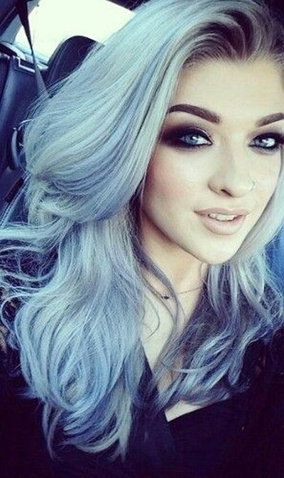 7 best silver blue hair options to make a statement highlights silver blue hair for girl pmusecretfo Image collections