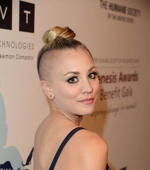 Kaley Cuoco 2017 hairstyle shaved