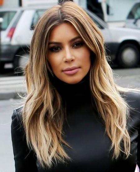 Kim Kardashian Long Layered Hairstyles Layered Hairstyles