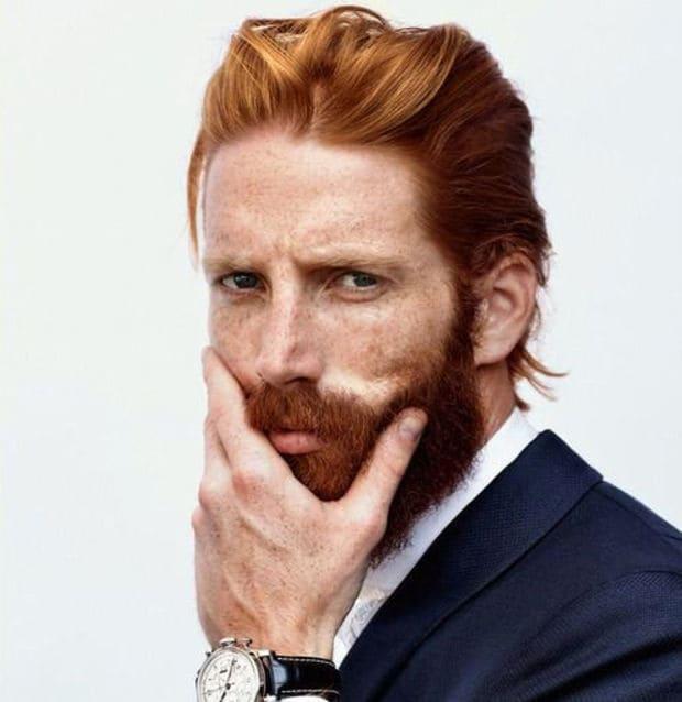Men Flow Haircut With Beard