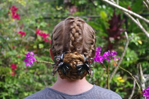 Triple Treat hairstyle for bride's mother