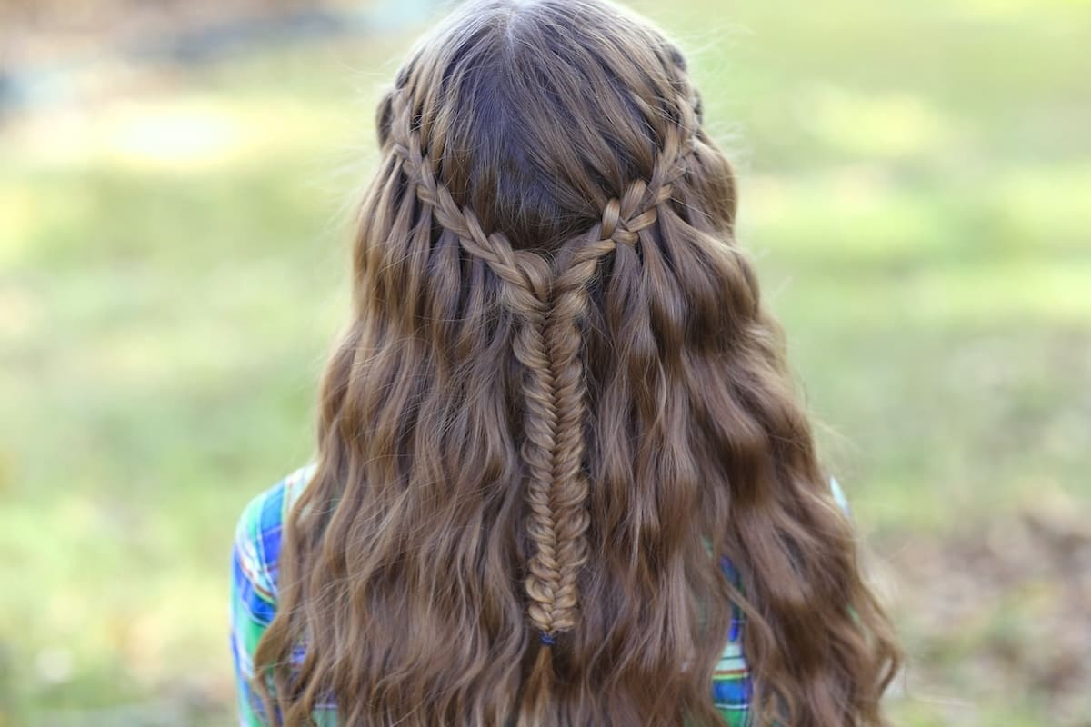 20 Waterfall Braids With Curls For Special Occasions