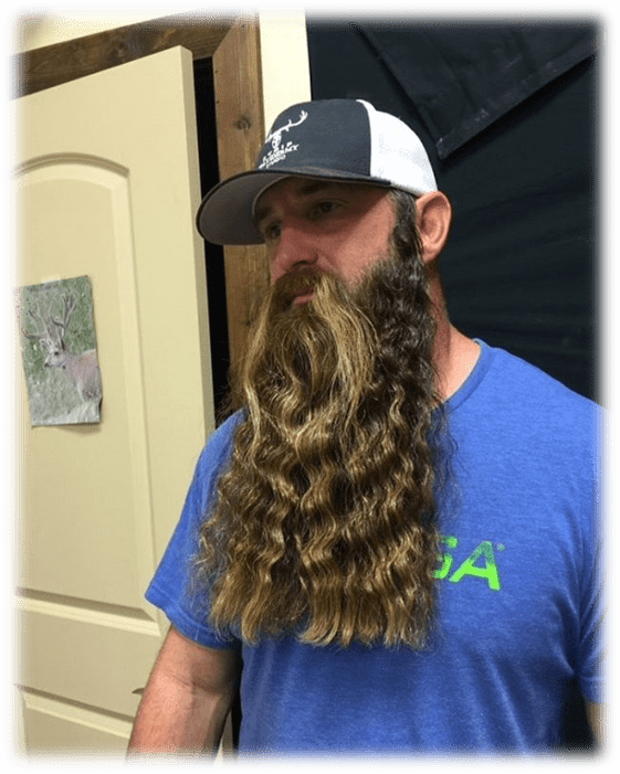 Wavy long Beard Style for men