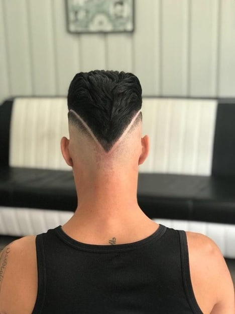 hairstyle: V Cut Fade Hairstyle For Men