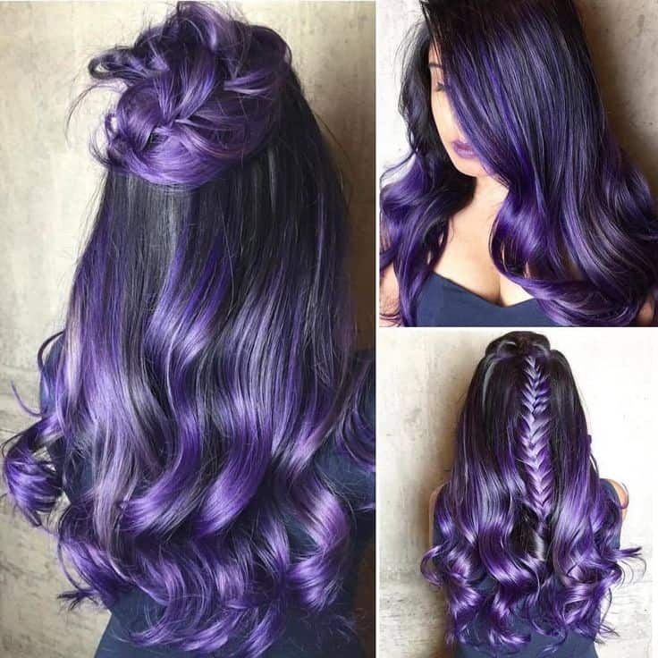 10 Brooding But Cool Black And Purple Hair Ideas