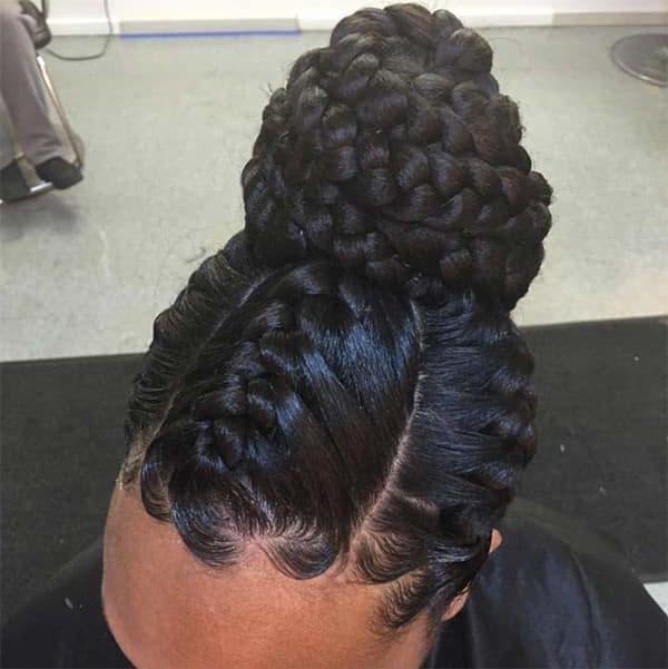20 Stunning Bun Hairstyles For Black Hair 2021 Hairstylecamp