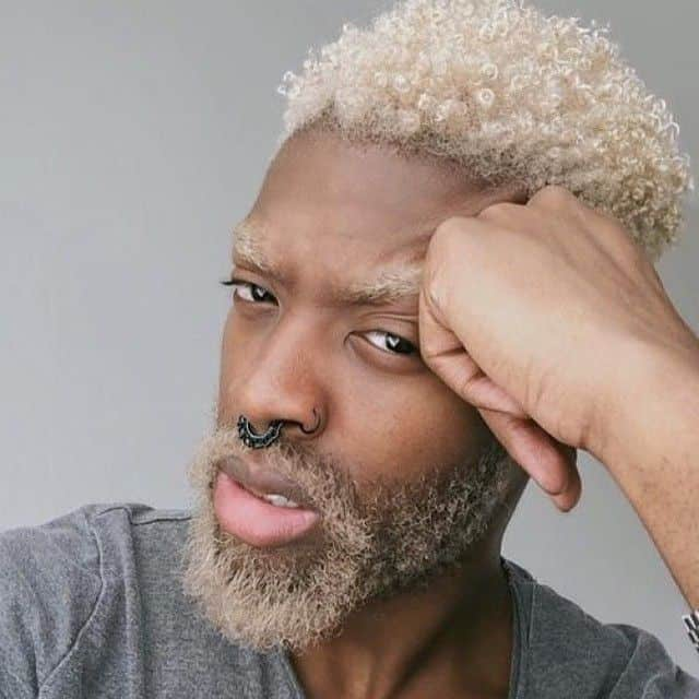 black guy with blonde hair