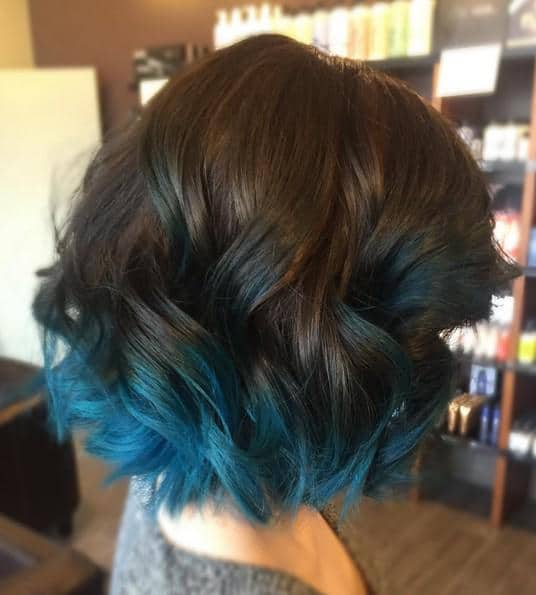 How To Get Blue Tips On The End Of Black Hair Hairstylecamp