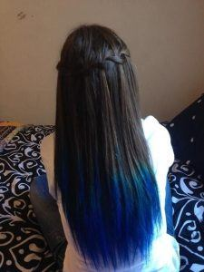 How to Get Blue Tips on the End of Black Hair – HairstyleCamp